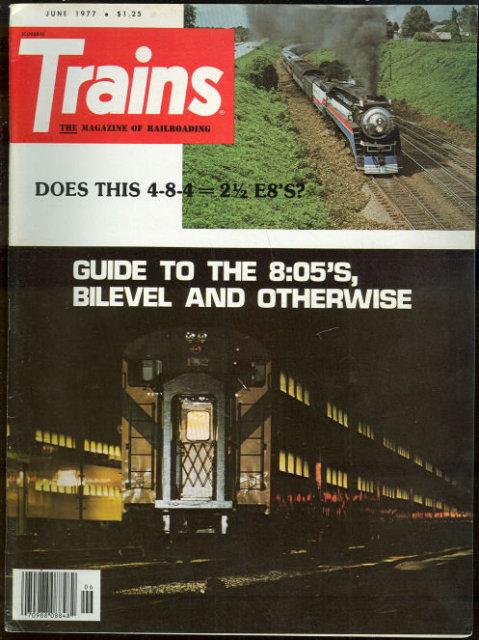 Trains Magazine June 1977 Railroad Commuters