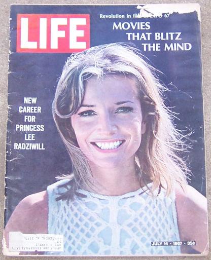 Life Magazine July 14, 1967 Princess Lee Radziwill on Cover