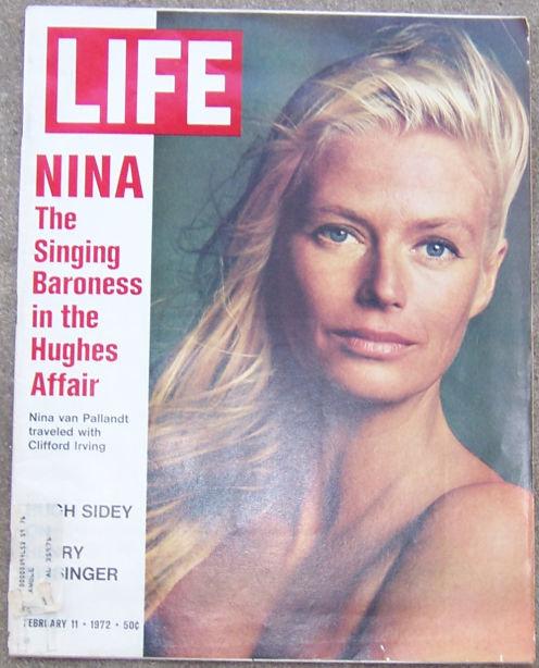 Life Magazine February 11, 1972 Nina Van Pallandt on Cover