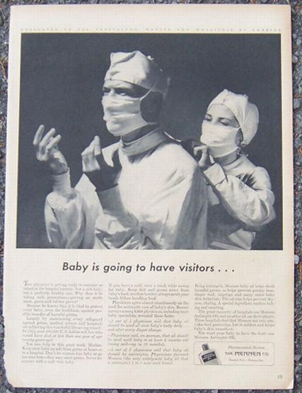 1944 Mennen Antiseptic Oil Magazine Advertisement