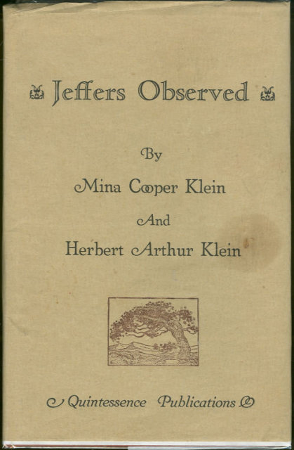 Jeffers Observed by Mina and Herbert Klein 1986 Limited