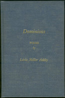 Dominions by Livia Miller Ashby 1969 Signed Poetry