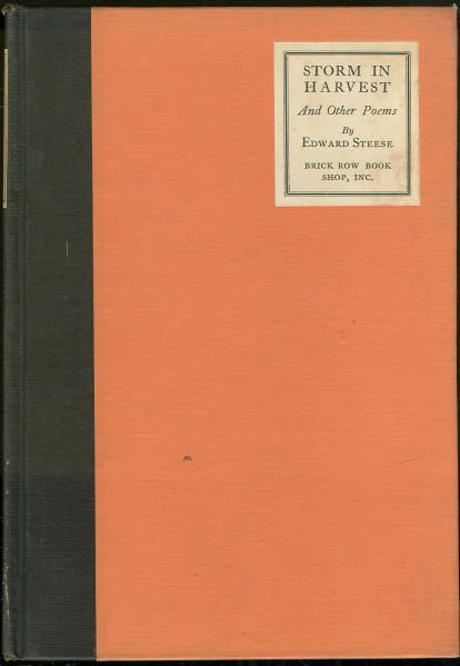 Storm Harvest and Other Poems by Edward Steese 1923 1st