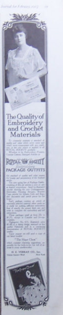Royal Society Embroidery Packages 1917 Magazine Ad