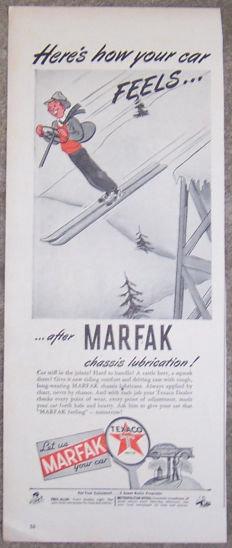 1944 Marfak Your Car Texaco  Magazine Advertisement