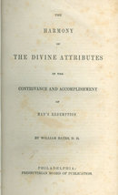 Harmony of the Divine Attributes by William Bates 1850s