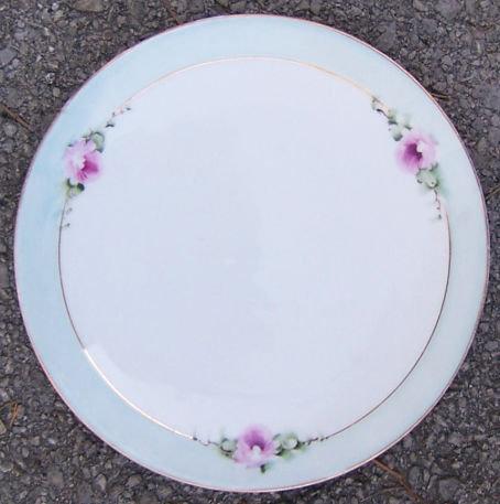 Bavaria Handpainted F. Thomas Pink Floral Plate
