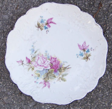 Victorian Embossed Small Plate with Roses