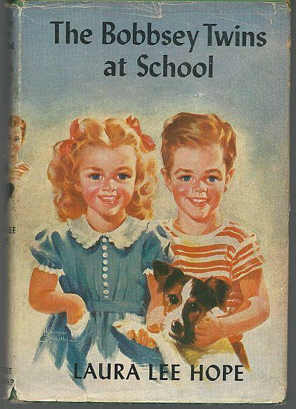 Bobbsey Twins at School by Laura Lee Hope 1941 with Dust Jacket Illustrated #4