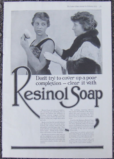 Resinol Soap for Complexion 1917 Magazine Advertisement