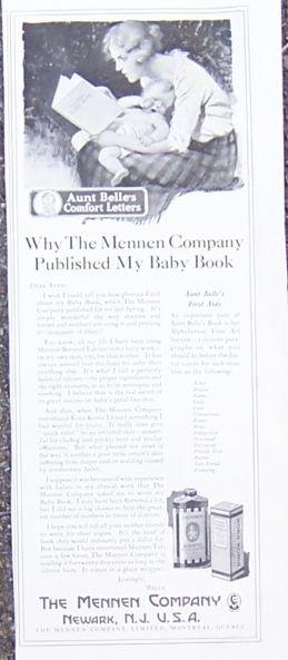 Mennen Talcum Powder 1921 Magazine Advertisement