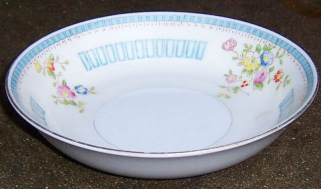 Handpainted Made in Japan Berry Bowl with Floral Sprays