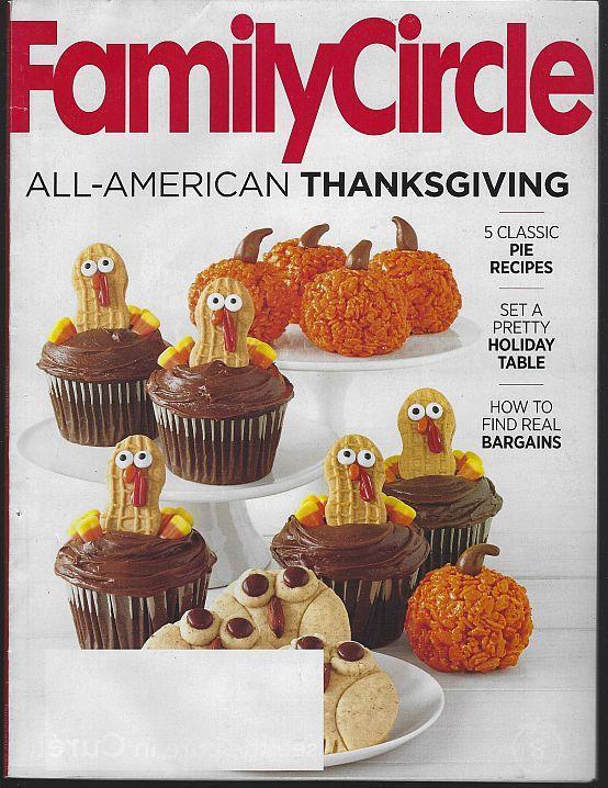 Family Circle Magazine November 2015 Thanksgiving/Jack Black/Holiday Tables