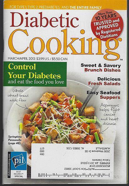 Diabetic Cooking Magazine March April 2013 Brunch Bliss Bread Basket