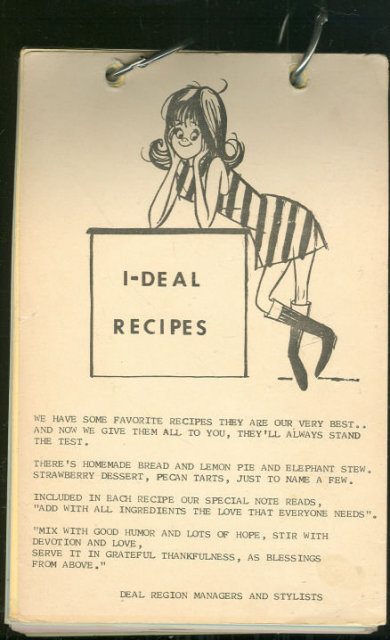I-Deal Recipes from Beeline Fashions of Illinois 1976