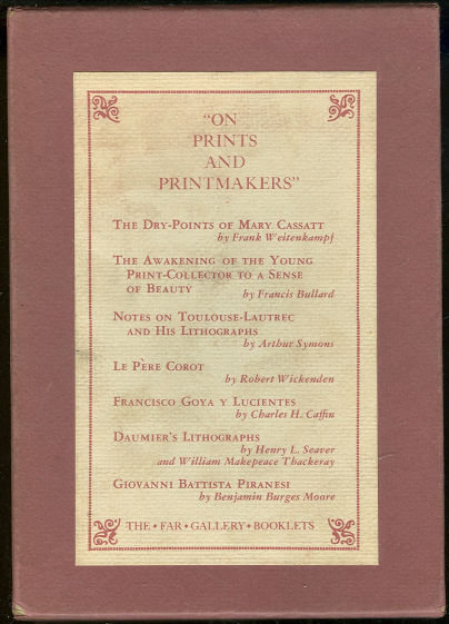On Prints and Printmakers 7 Booklets in Slipcase 1962