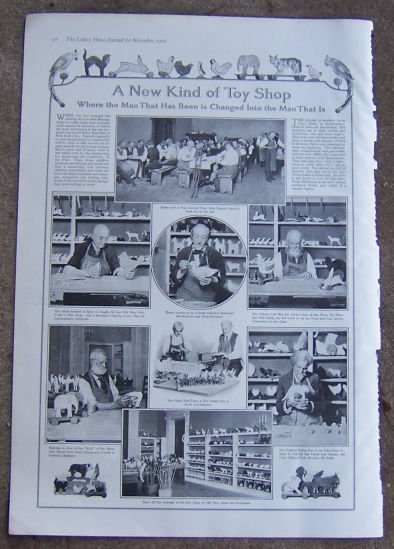 A New Kind of Toy Shop 1916 Ladies Home Journel Page