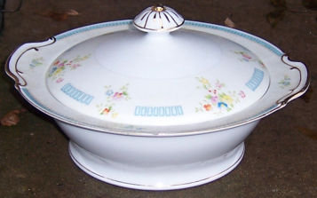 Handpainted Made in Japan Casserole with Floral Sprays