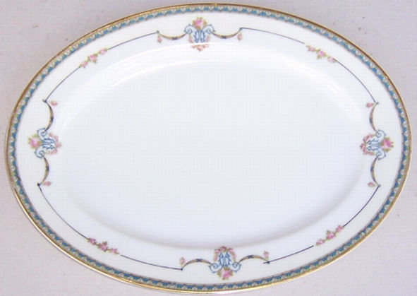 Noritake China Laureate Small Platter w/ Blue Garland