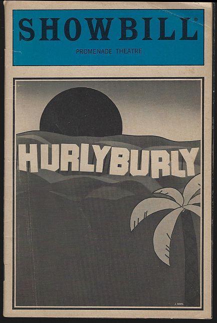 Showbill Hurlyburly, Promenade Theatre, June 1984 William Hurt/Judith Ivey