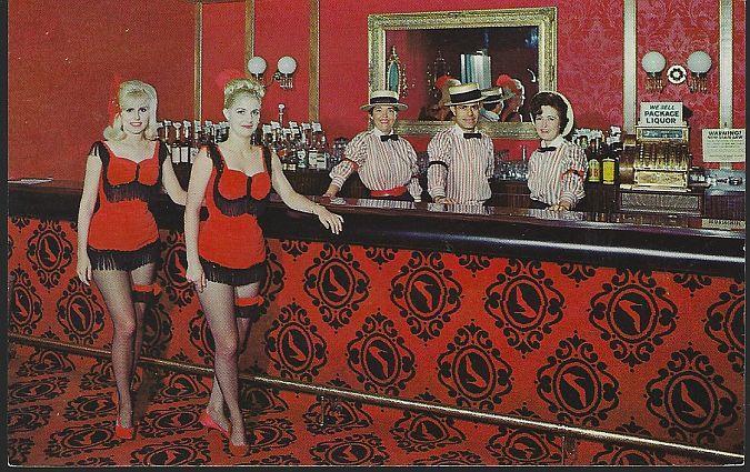 Vintage Unused Postcard Red Slipper Cocktail Lounge Holiday Inn Springfield MO
