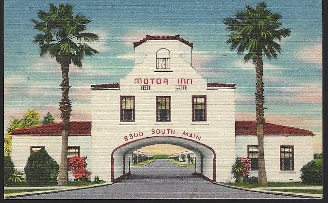 Vintage Postcard of Motor Inn, Highway 59 and 90A, Houston, Texas