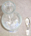 Vintage Floral Etched Tall Crystal Decanter w/ Stopper