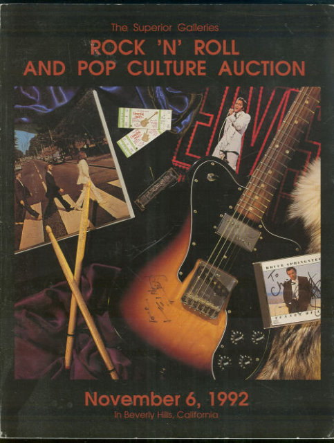 Rock N' Roll and Pop Culture Auction Superior Galleries