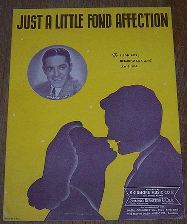 Just a Little Fond Affection Featured by Frankie Carle 1944 Sheet Music