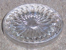 Vintage Clear Oval With Starburst Design Master Salt