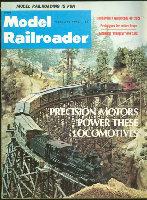 Model Railroader Magazine February 1976 Pelican Bay