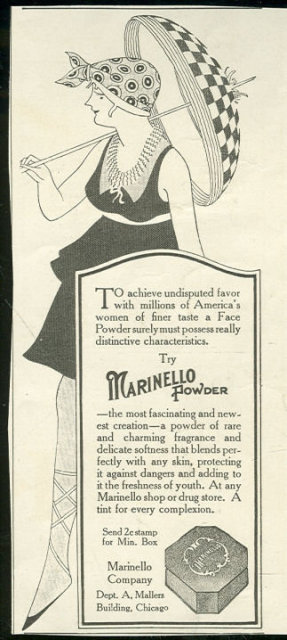 Marinello Face Powder 1916 Magazine Advertisement