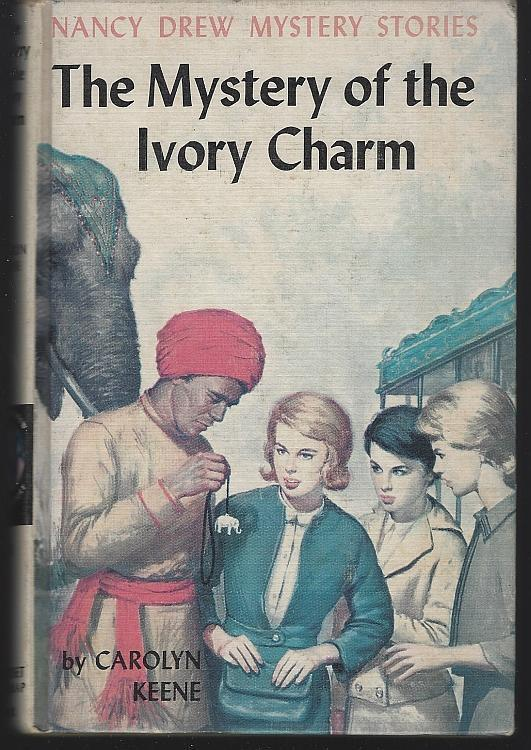Mystery of the Ivory Charm by Carolyn Keene Nancy Drew #13 Matte Yellow 1936