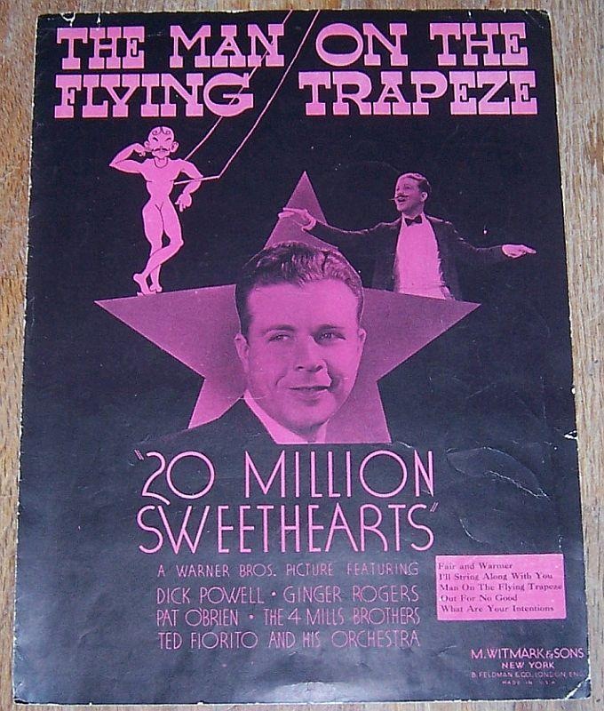 Man on the Flying Trapeze From 20 Million Sweethearts Dick Powell Ginger Rogers
