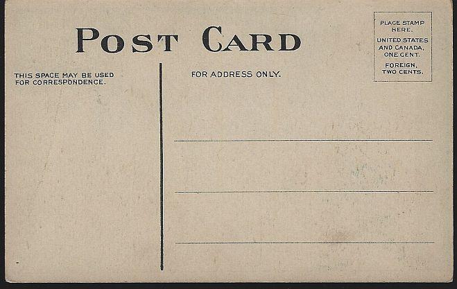 Vintage Unused Christmas Postcard with Santa Claus Letter and Christmas Tree