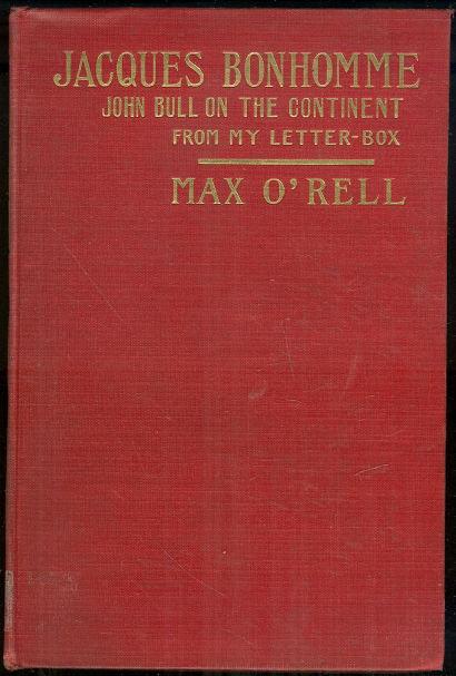 Jacques Bonhomme John Bull Co by Max O'Rell 1901 1st ed