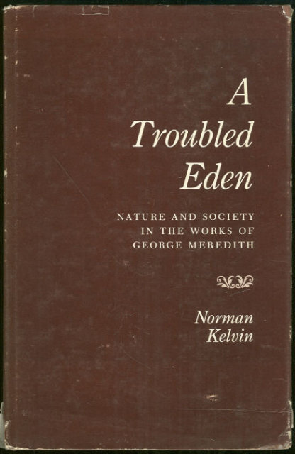 Troubled Eden George Meredith Literary Criticism 1961
