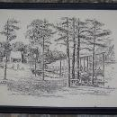 Vintage Framed Print of Sharon Johnson Park, Huntsville, Alabama