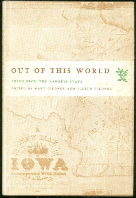 Out of This World Poems From Iowa 1975 1st edition DJ