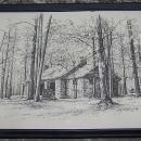 Vintage Framed Black and White Print of Monte Sano State Park Huntsville Alabama