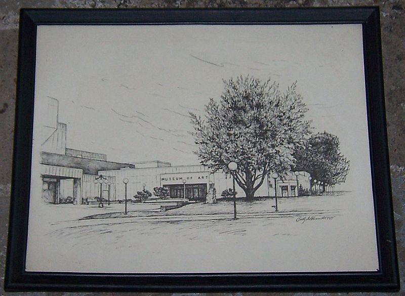 Vintage Framed Print of Huntsville Museum of Art, Huntsville, Alabama