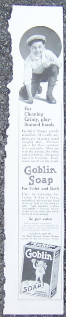 Goblin Soap for Cleaning Child's Hands 1916 Magazine Ad