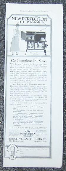 New Perfection Oil Range 1916 Magazine Advertisement