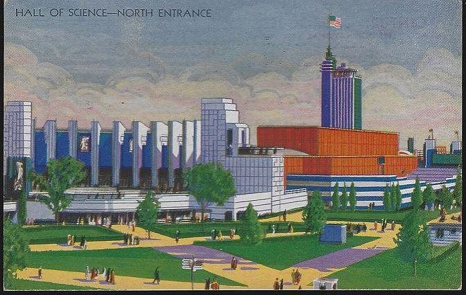 Vintage Unused Postcard Hall of Science North Entrance Century of Progress 1933