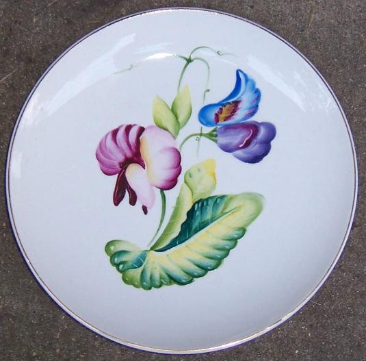 Matsumura Occupied Japan Salad Plate w/ Bright Flowers