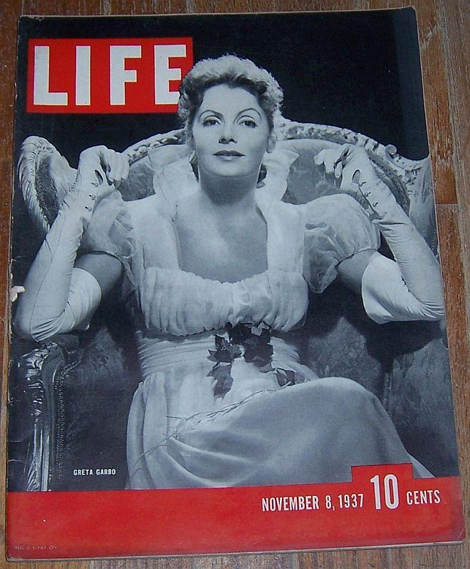 Life Magazine November 8, 1937 Greta Garbo Cover/Duke and Duchess of Windsor