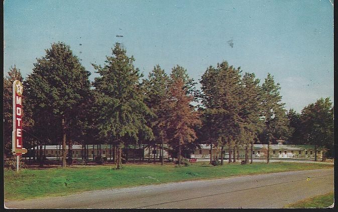 Vintage Postcard Five Star Motel US 40, Ill 121, and 130 Greenup, Illinois