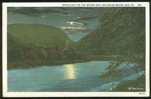 Postcard of Moonlight Delaware Water Gap, Pennsylvania
