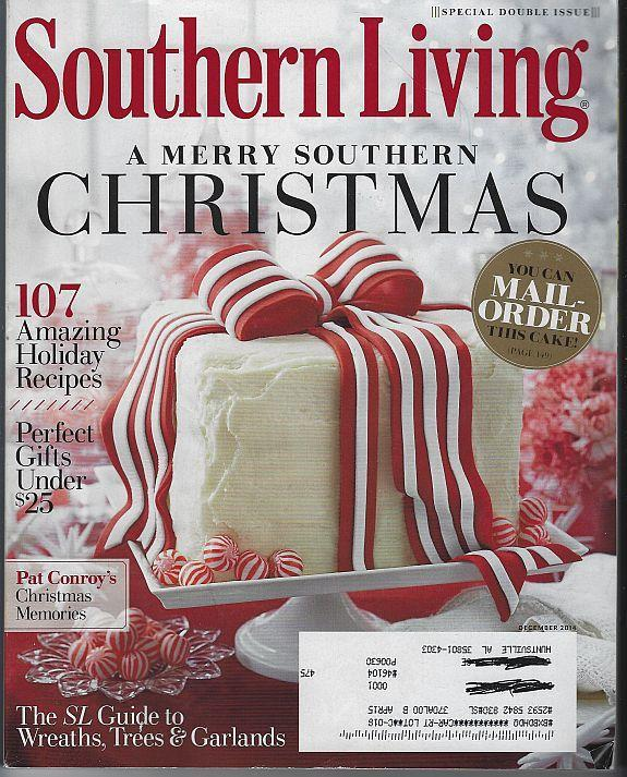 Southern Living Magazine December 2014 Merry Southern Christmas/Gifts/Pat Conroy