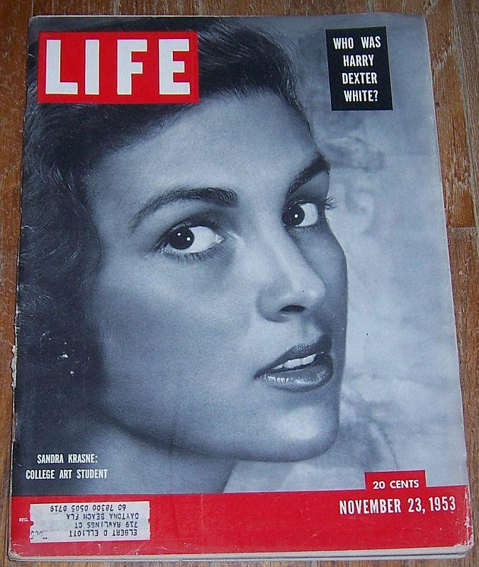 Life Magazine November 23, 1953 Sandra Krasne Cover/Churchill/Dinah Shore/Movies